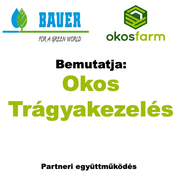 Bauer hungária okosfarm trágyatárolás kezelés szeparátor okos